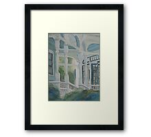 It's Greener on the Other Side of the Porch Framed Print