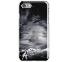 Mountains in Black and white iPhone Case/Skin