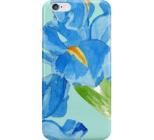 Watercolor iris spring flowers  iPhone Case/Skin