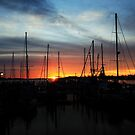 sunrise over the habour by kathy s gillentine