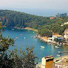 Blue Corfu behind the chimney by loiteke