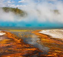 Biscuit Basin. Sapphire Pool. Yellowstone National Park. Wyoming. USA. by photosecosse /barbara jones