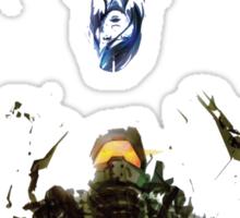 Master Chief and Cortana  Sticker