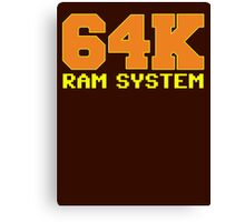 Commodore 64k RAM System Canvas Print