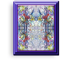 Hymn to our Master Creator Canvas Print