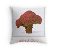 Autumn broccoli Throw Pillow