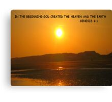 Genesis 1:1 In the beginning God created the heaven and the earth. Canvas Print