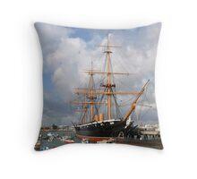 HMS Warrior Throw Pillow