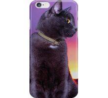 Early Bird (Cat) Catches Breakfast iPhone Case/Skin