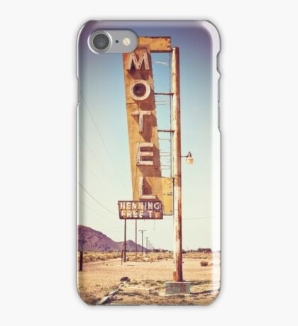 Motel Sign on the Route 66 iPhone Case/Skin