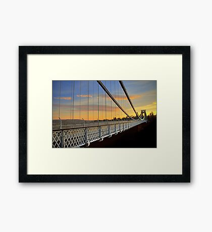 Clifton Suspension Bridge at Sunset Framed Print