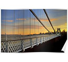Clifton Suspension Bridge at Sunset Poster