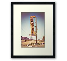 Motel Sign on the Route 66 Framed Print