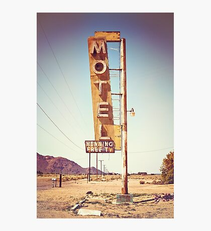 Motel Sign on the Route 66 Photographic Print