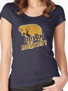 Down Rowdy the Dog Women's Fitted Scoop T-Shirt