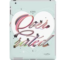 Love is Overrated iPad Case/Skin