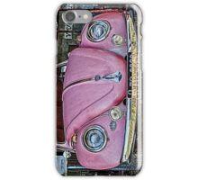 Pink volkswagen beetle iPhone Case/Skin