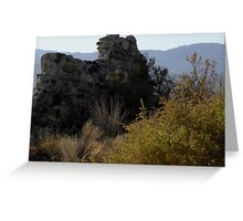Stable Wall with Morning Sun, Llano Greeting Card