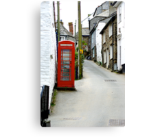 Port Isaac High Street Canvas Print