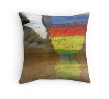 Floating Colors Abstract Throw Pillow
