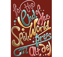 For the end of the world spell, press CTRL ALT DEL Photographic Print