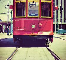 Red Street Car in New Orleans by Giorgio Fochesato
