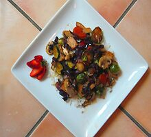 Stir-fry over rice by DAdeSimone
