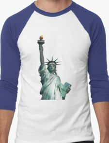Statue of Liberty, New York, USA Men's Baseball ¾ T-Shirt