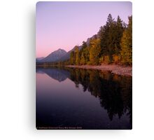 Lake MacDonald - Glacier National Park Canvas Print