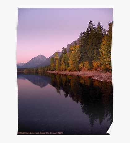 Lake MacDonald - Glacier National Park Poster