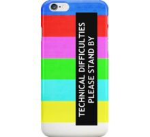 Technical Difficulties TV Test Card  iPhone Case/Skin