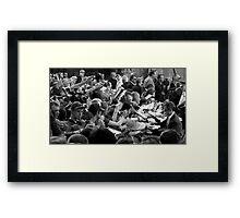 Mobbed Framed Print