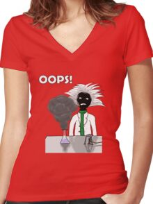 When science goes wrong Women's Fitted V-Neck T-Shirt