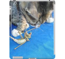 Young Male Tabby Cat Playing With It's Prey iPad Case/Skin