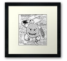 Gonad The Barbarian Comic Collage Framed Print