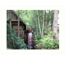 Water wheel grist mill  Art Print