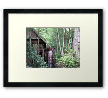 Water wheel grist mill  Framed Print