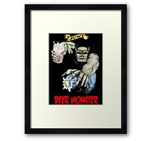 Rubbernorc Beer Monster Framed Print