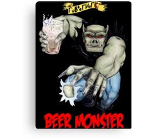 Rubbernorc Beer Monster Canvas Print