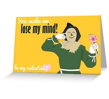 Scarecrow - Wizard of Oz Valentine Greeting Card