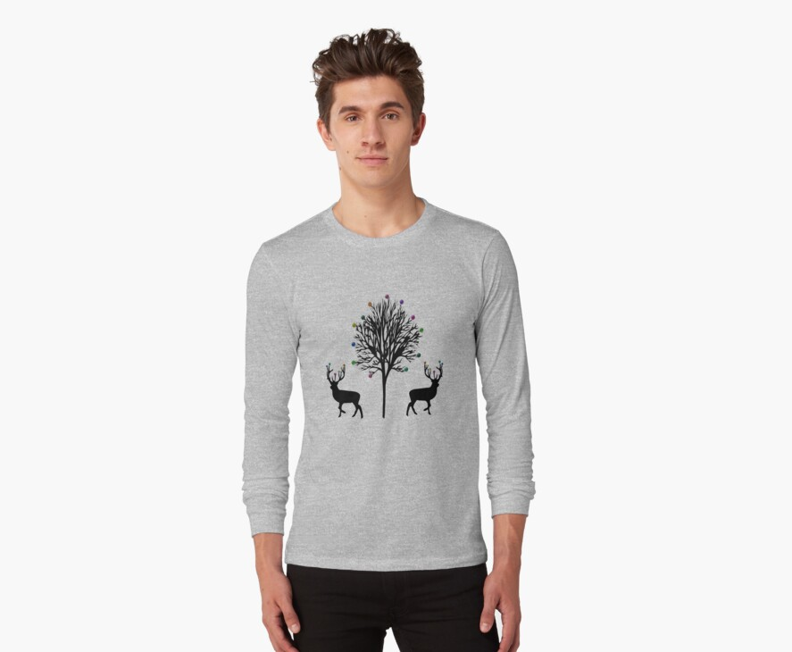 Christmas Stag T-Shirt by simpsonvisuals