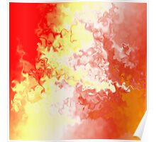 Abstract Fire Storm 5 Poster