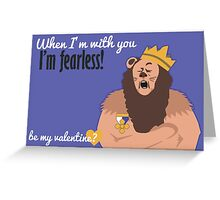 Cowardly Lion - Wizard of Oz Valentine Greeting Card