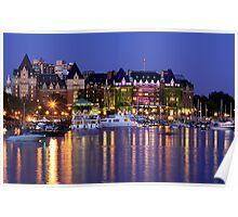 Empress Hotel in Victoria, British Columbia, Canada Poster
