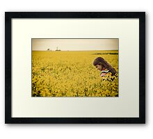 happily lost at sea Framed Print