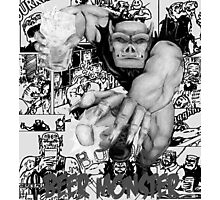 Rubbernorc Beer Monster Comic Collage Photographic Print