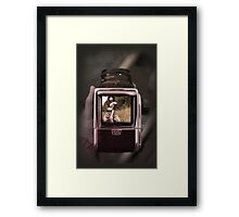 retro film camera Framed Print