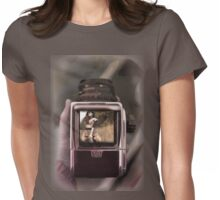 retro film camera Womens Fitted T-Shirt