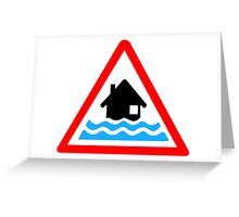 Flooding Warning Greeting Card