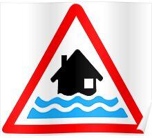 Flooding Warning Poster